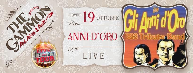 Giovedì 19 Ottobre: – GLI ANNI D'ORO –  883 Tribute