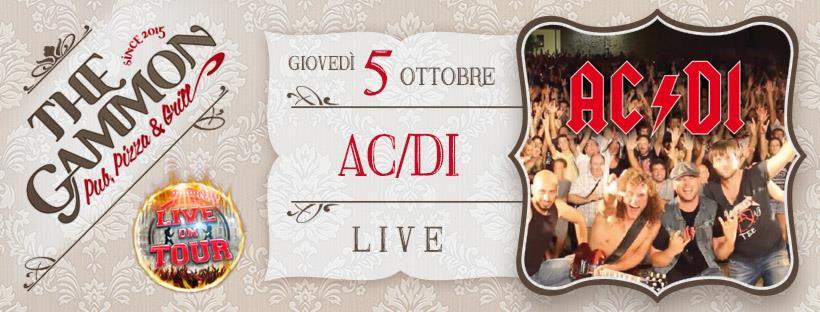 Giovedì 05 Ottobre: LIVE by ACIDI – AC-DC Tribute