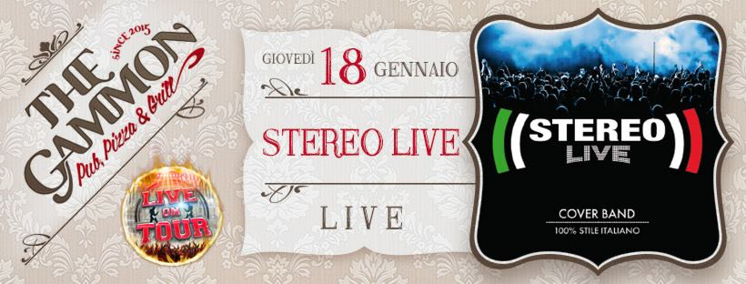 Giovedì 18 Gennaio ★Stereo LIVE★ Cover band