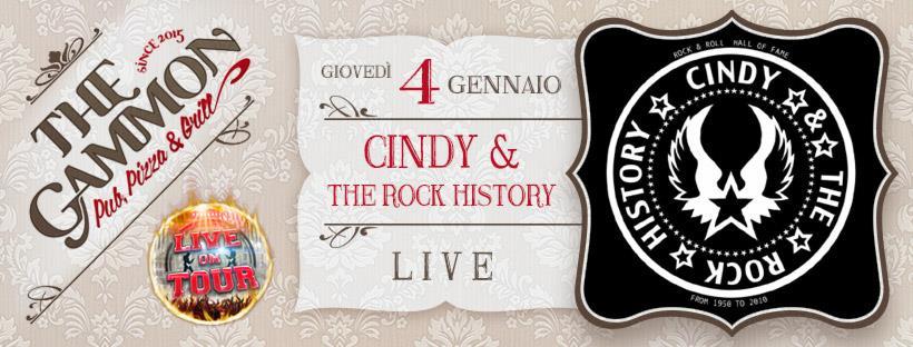 Giovedì 04 Gennaio ★ CINDY ★ & the rock history