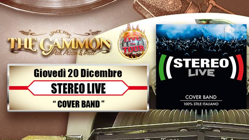 Giovedì 20 Dicembre: //Stereo Live// 100% stile Italiano