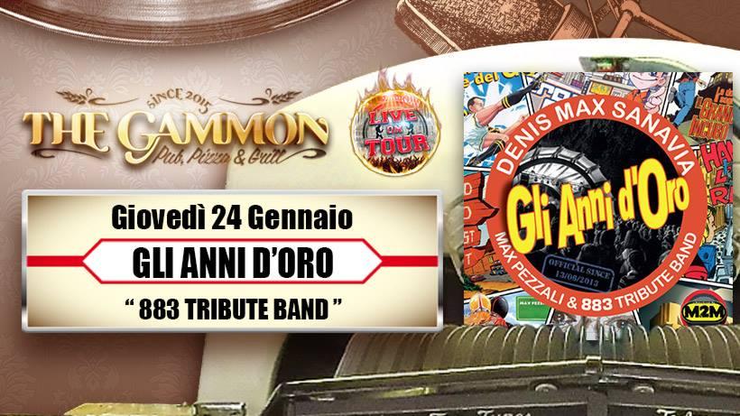 Giovedì 24 Gennaio //Gli anni d'oro// 883 Tribute Band