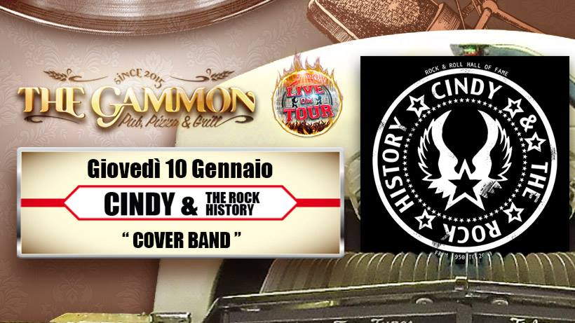 Giovedì 10 Gennaio //Cindy & the rock History//