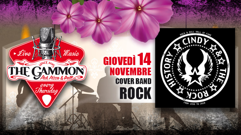 Giovedì 14 Novembre – Cindy & the rock history