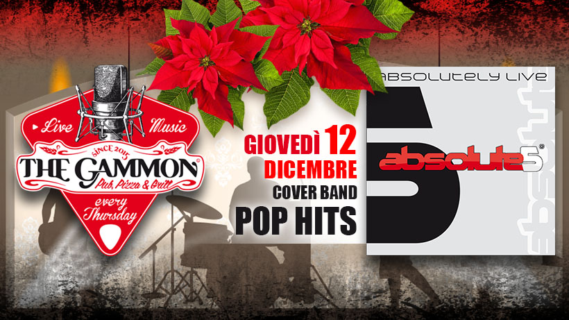 Giovedì 12 Dicembre – Absolute5 POP HITS
