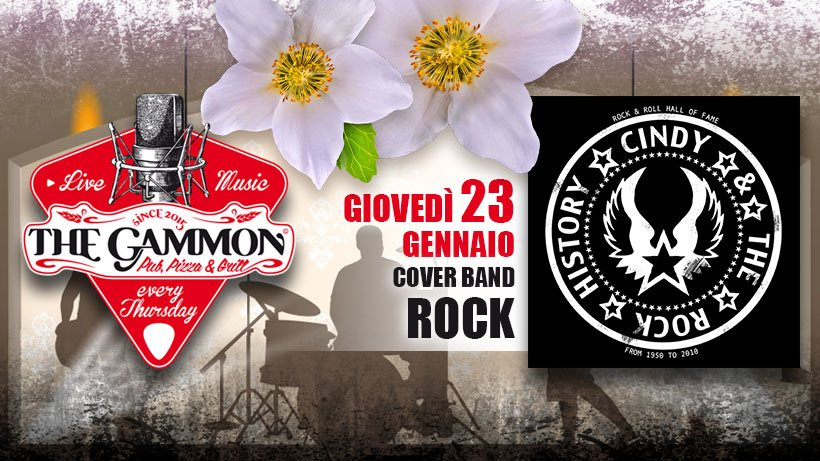 Giovedì 23 Gennaio – Cindy and The Rock History