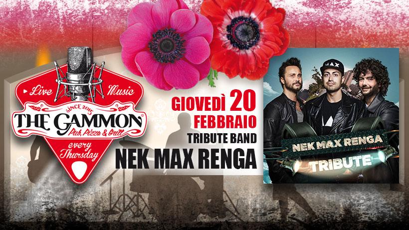 Giovedì 20 Febbraio – Nek-Max-Renga tribute