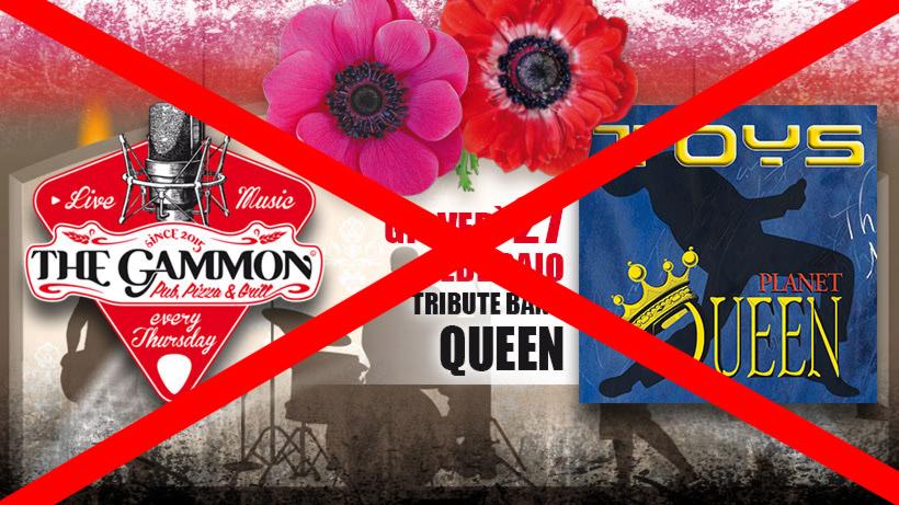 ANNULLATO – Giovedì 27 Febbraio – TOYS – Queen Tribute